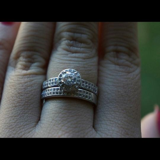 4.5 5 6 7 8 9 Pave Cz 1.5 Ct Engagement Ring