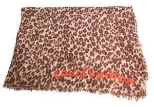 Louis Vuitton Louis Vuitton Leopard Stole Cashmere & Silk