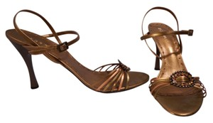 BCBGMAXAZRIA Bronze Multicolor Metallic Sandals