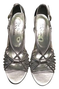 Nina Shoes Metallic Slingback Heels Strapy Metallic silver Sandals
