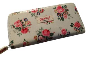 Cath Kidston Cath Kidston - London White with Rose Printed Zipped Oil Cloth Wallet Purse