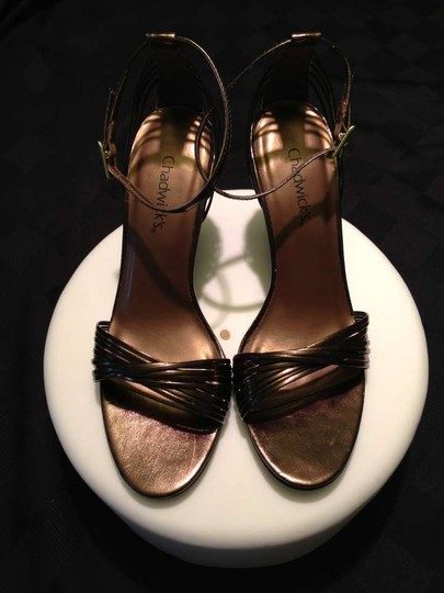 Chadwicks Strappy Slingback Heels Metallic bronze Sandals