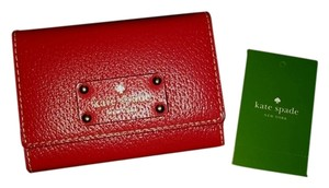 Kate Spade Kate Spade Wellesley Darla Wallet With Keychain New Empire Red