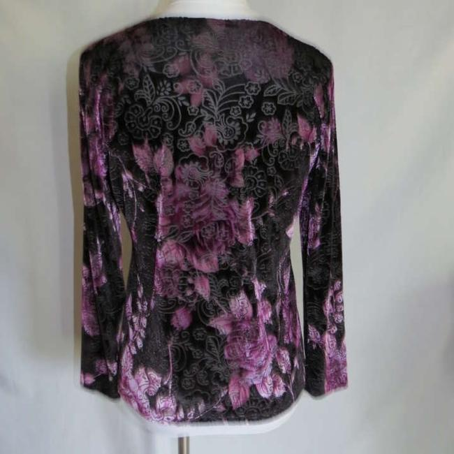 Susan Lawrence Top Black/Purple