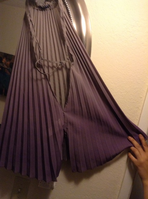 Sisley Ombr shades of gray and purple Halter Top