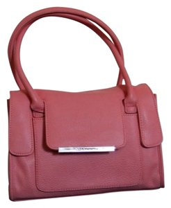 BCBGeneration Faux Leather Bcbg Handbag Satchel in Sherbert
