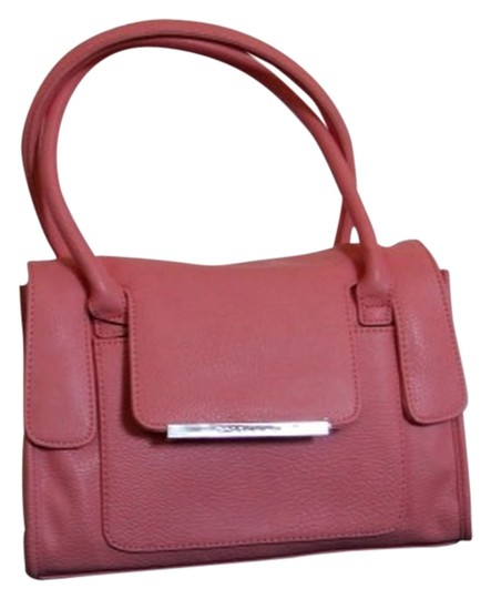 BCBGeneration Faux Leather Purse Handbag Satchel in Sherbert Image 0