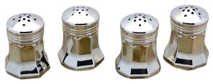 Cartier Cartier Sterling Silver 4 Shakers - Salt, Pepper, 2 Spices in Original Red Box!