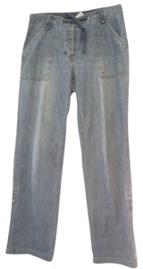 Liz Claiborne Blue Jeans Size 8 Size M Size 29 Size 30 Relaxed Pants light blue