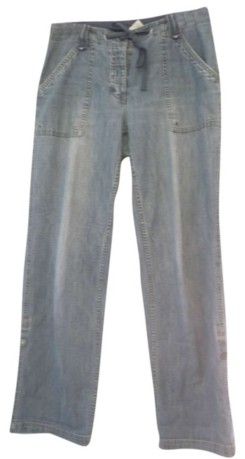 Liz Claiborne Jeans Size 8 Size M Size 29 Size 30 Relaxed Pants light blue