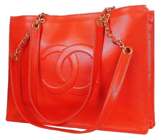 Chanel Vintage Rare Tote in Red