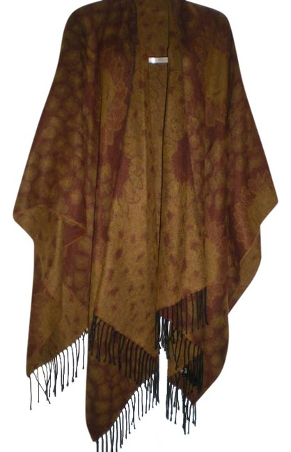 Preload https://item5.tradesy.com/images/brown-golds-sunflower-art-of-the-scarf-ponchocape-size-os-one-size-344774-0-0.jpg?width=400&height=650