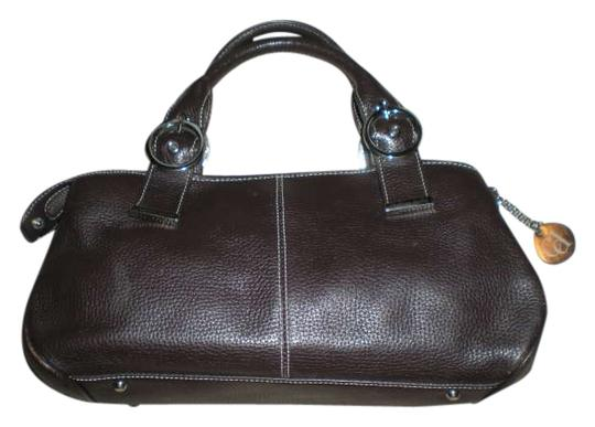 Charles David Leather Handbag Leather Handbags Satchel in Brown Leather