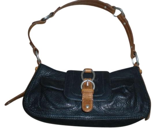 Sigrid Olsen Satchel in Navy Blue Leather