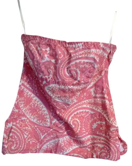 J.Crew pink, white, orange Halter Top