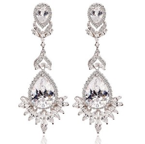 Stunning Crystal Chandelier Earrings Swarovski Rhinestone Earrings Bridal Earrings Vintage Style