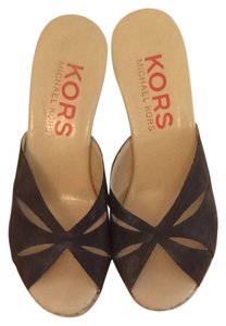 Michael Kors Chocolate Brown Mules