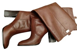 Diane von Furstenberg Brown LEATHER Boots