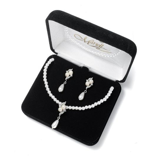 Mariell Pearl 3-pc. Pendant Set 654bs-3-w-s Necklace