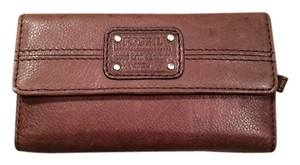Fossil Fossil Leather Trifold Clutch Leather Wallet
