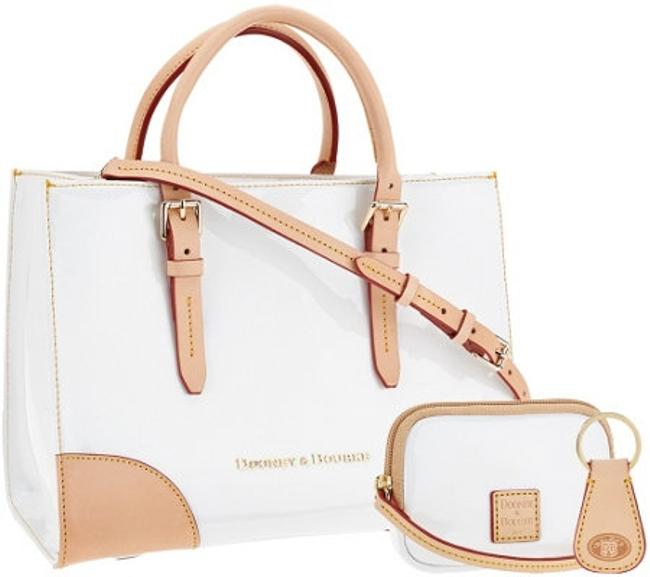 Item - Claremont with Wristlet Key Fob White Patent Leather Tote