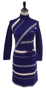 Marco Polo short dress Blue Striped Knit Pan Am on Tradesy