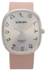 Strada Celetial Signs Watch with Pink Leatherette Strap