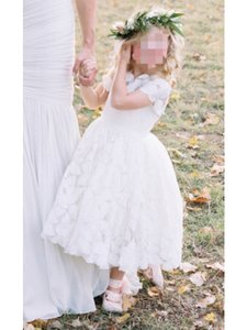 Doloris Petunia 'annabelle' Flower Girl Dress In Ivory