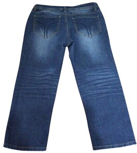 Bogari Capri/Cropped Denim-Medium Wash