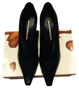 Donald J. Pliner Black Baby Calf Pumps