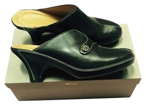 Cole Haan Black Leather Mules