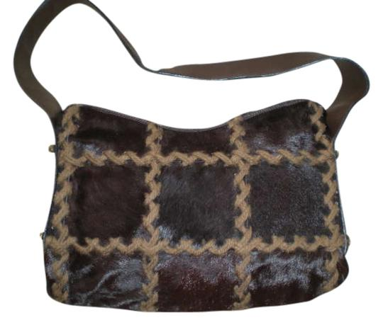 Other Berge Handbag Leather And Calf Hair Handbag Vintage Handbag Horsehair Handbags Shoulder Bag
