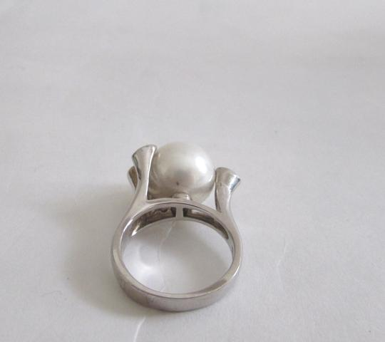 Pearlfection Pearlfection .925 Sterling Silver Faux White Pearl Ring Size 7