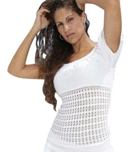 Lirome Embroidered Summer Summersexy Top White