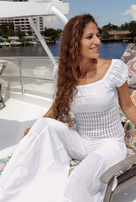 Lirome Embroidered Summer Tube Resort Sexy Top White Image 3