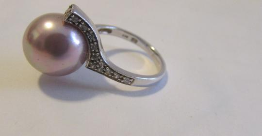 Pearlfection Pearlfection .925 Faux Mauve South Sea Pearl Ring Image 1