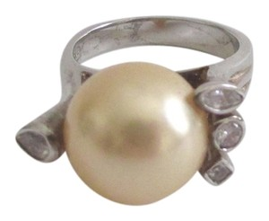 Pearlfection Pearlfection .925 Faux Golden South Sea Pearl Ring Size 7