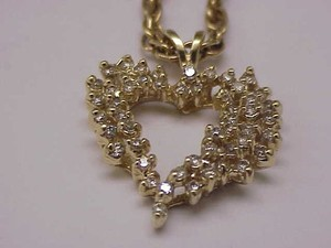 Estate Vintage 14k Yellow Gold 1.65cttw Diamond Pendant