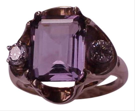 Preload https://img-static.tradesy.com/item/345065/10k-yellow-gold-amethyst-diamond-ring-0-0-540-540.jpg