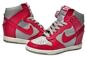 Nike Fushia Grey Dunk High Sky Sneakers Comfortable Grey/Fushia Athletic