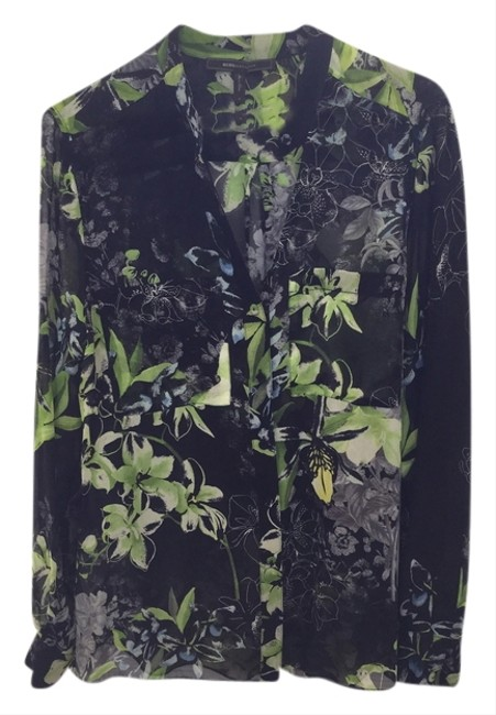 BCG Silk blouse with floral pattern