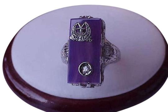 Preload https://item3.tradesy.com/images/estate-vintage-14k-white-gold-agate-diamond-filigree-ring-345092-0-0.jpg?width=440&height=440