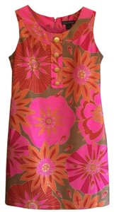 Jessica Howard short dress Pink/Red/Orange Print Sleeveless Lined Dryclean Only on Tradesy