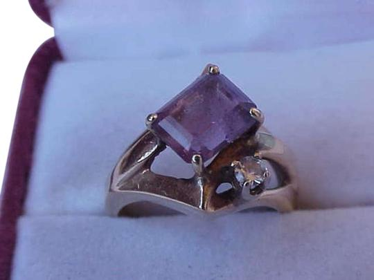 Preload https://img-static.tradesy.com/item/345125/14k-yellow-gold-amethyst-diamond-ring-0-0-540-540.jpg
