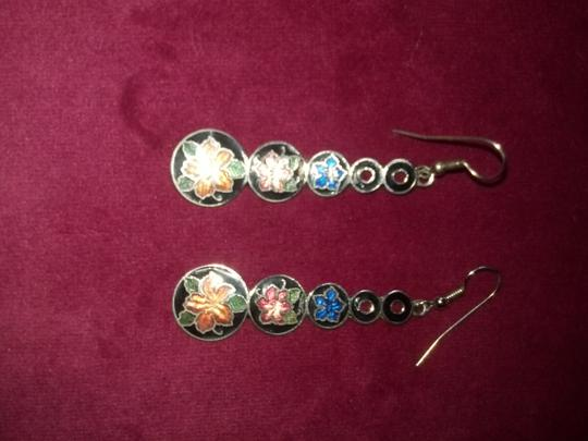 Other Vintage Cloisonne Dangle Drop Earrings