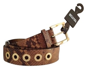 Michael Kors Snake Skin Printed Leather Belt