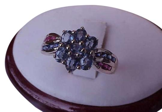 Other Estate Vintage 10k Yellow Gold 2.00 carats blue and pink sapphire ring