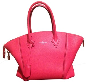 Louis Vuitton Leather Summer Bright Satchel in Pink