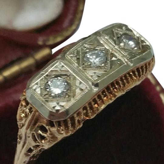 Preload https://item1.tradesy.com/images/art-deco-14k-2-tone-gold-filigree-ornate-3-stone-diamond-ring-345350-0-2.jpg?width=440&height=440