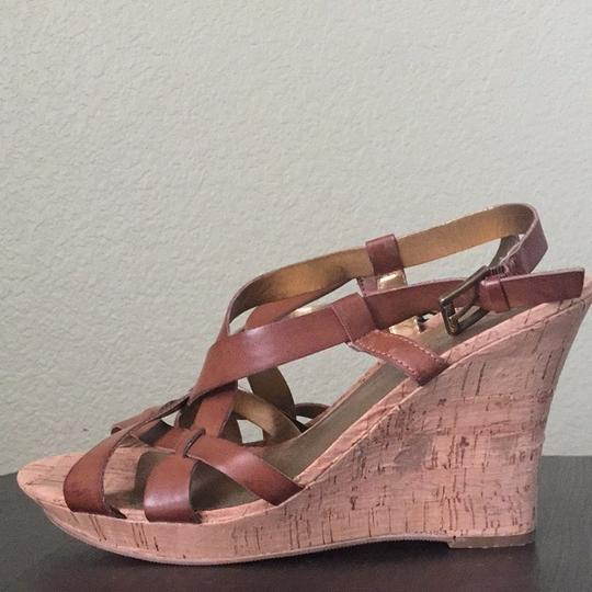 Guess Tan Wedges